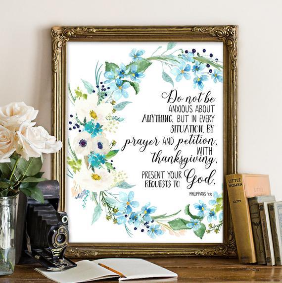 Philippians 4:6-7 Etsy Artwork