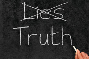 Six Truths to Tell Our Kids Lies chalkboard