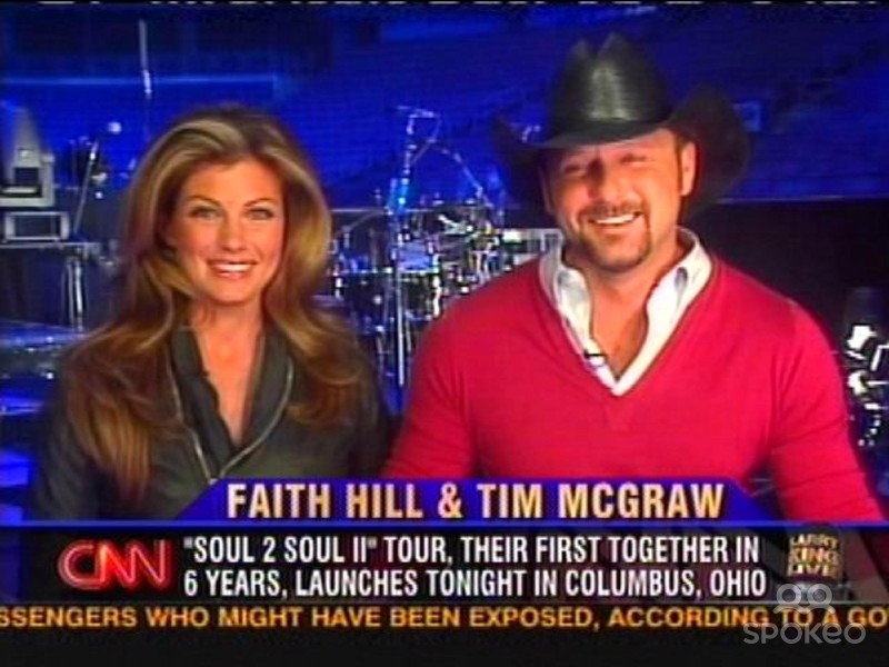 With her husband Tim McGraw on Larry King Live. Photo courtesy of: http://www.spokeo.com