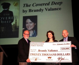 Brandy winning the Operation First Novel Contest