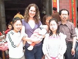 Christy Brunke in Nanchang, Jiangxi province in China