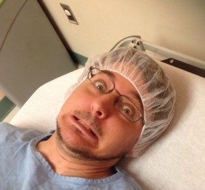 Pastor Mark Brunke before surgery perspective through pain