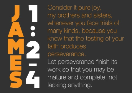 James 1:2-4 perspective through pain