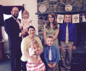 Pro-life spokesperson Catherine Adair with her five children