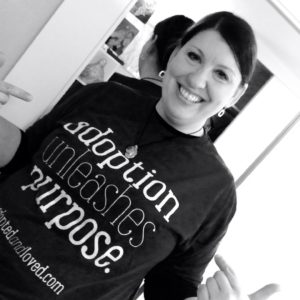 Pro-life spokesperson Catherine Adair adoption unleashes purpose shirt