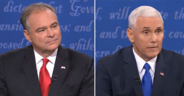 Mike Pence answered Tim Kaine's question about abortion