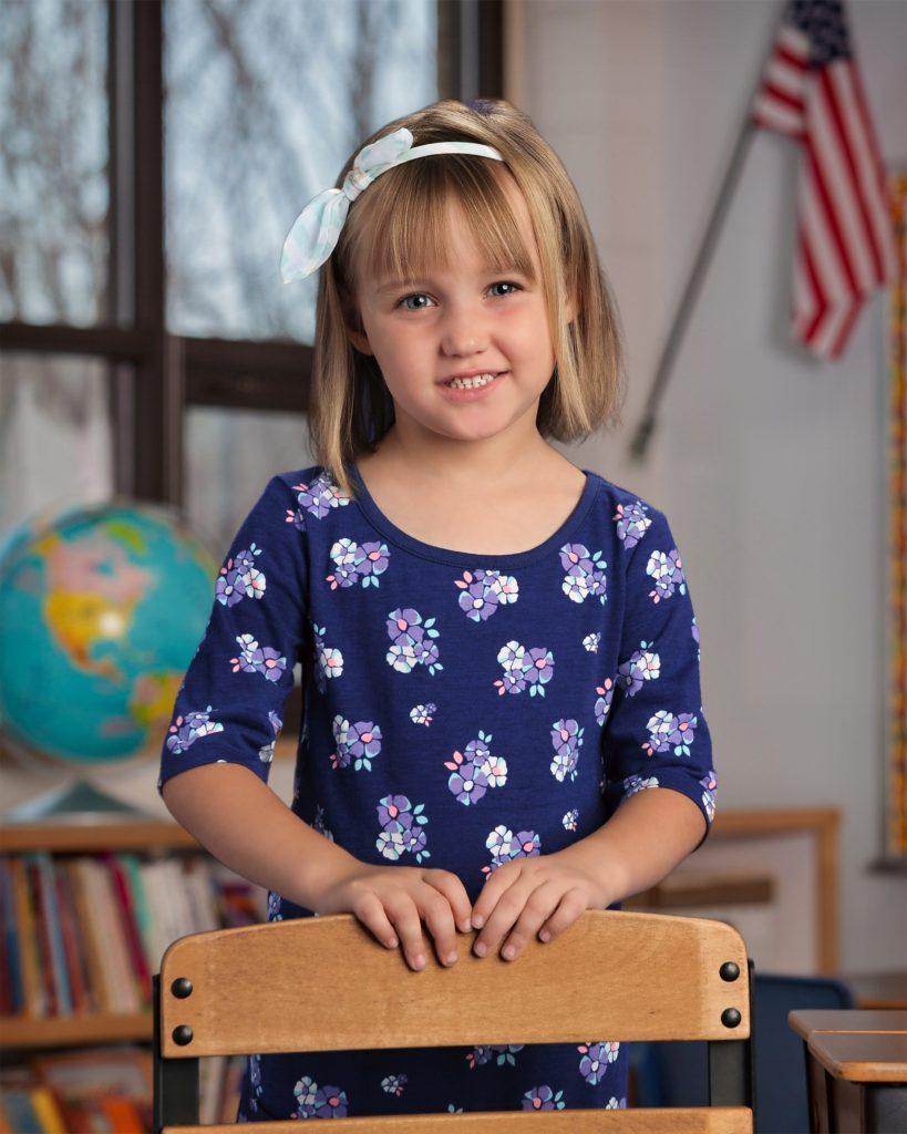 Michaela Lynn Brunke kindergarten picture from Fall 2016