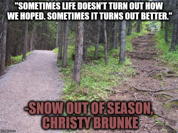 Life quote from Christy Brunke's Snow Out of Season
