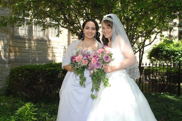 Christy Brunke and Nancy Holec (bride and maid-of-honor)