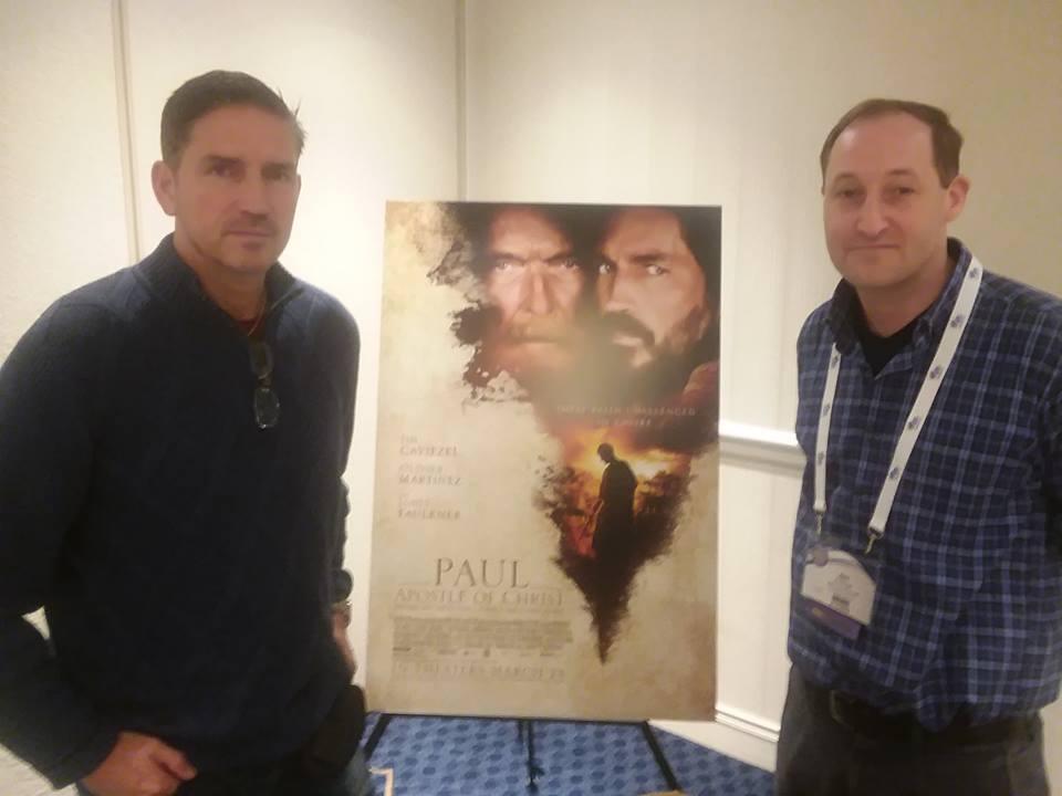 Eric T. Eichinger with actor Jim Caviezel