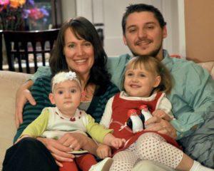 The Brunke Family: Mark, Christy, Michaela, and Angelina