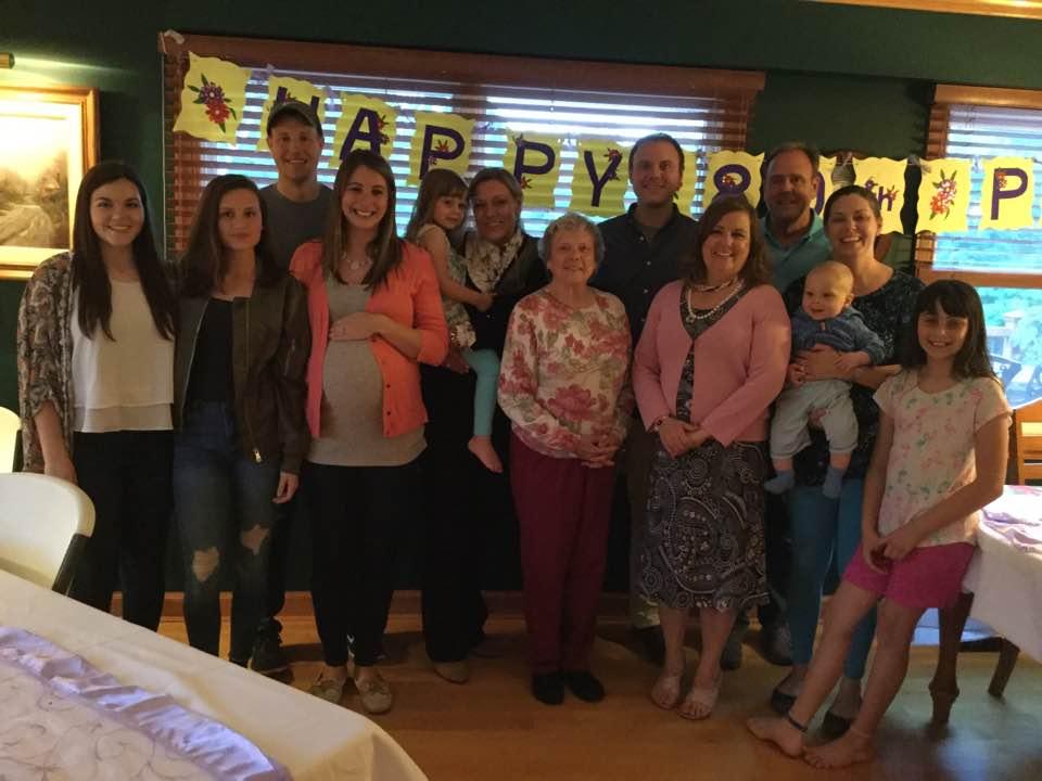 Celebrating Pat Litzau's Eightieth Birthday Party