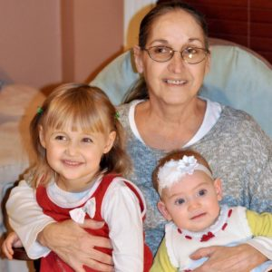 My mother-in-law with our daughters